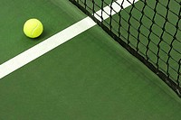 Tennis ball on court (thumbnail)