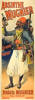 Poster showing Absinthe Mugnier´s famous desert legionnaire (or ´zouave´) by Lucien Lefèvre.