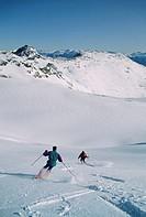 Heli skiing, Whistler Mountain, British Columbia, Canada