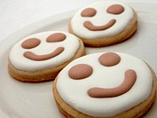 Smile faced sugar cookies