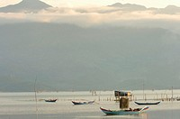 Vietnam, Long Hai, boats in bay