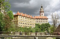 Castle in Cesky Krumlov. Czech Republic. Central Europe
