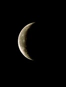 Waning crescent Moon. Optical image of the waning crescent Moon. The Moon is said to wane when it is diminishing in apparent size. The phases of the M...