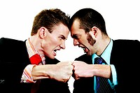 Two businessmen in an argument.