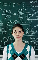 Girl having problems solving the confusing equation