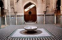 Medersa Attarine during restauration. Fes. Morocco.