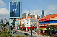 China Town, view of New Bridge Road. Singapore