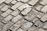 Antique paving bricks in New York City´s Meat Packing District