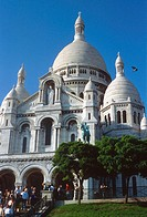 Europe, France, Ile de France, Paris, Montmartre, basilica of the Sacré-Coeur