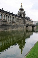 Crown Gate and long gallery at Zwinger Palace in Dresden, Germany