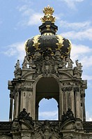 Crown Gate at Zwinger Palace in Dresden, Germany