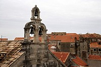 Croatia, Dubrovnik, rooftops, elevated view