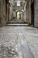 Dubrovnik, narrow street in the old city