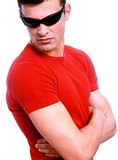 Man wearing sunglass