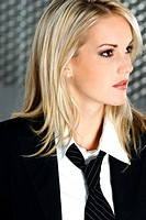 Woman wearing tie (thumbnail)