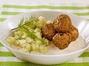 Meatballs with cucumber