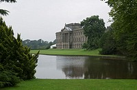 Palace situated by river