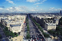 France, Paris, avenue des Champs-Elys?es, elevated view