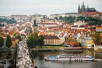 View from Old Town Bridge Tower, Prague, Czech Republic