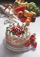 Austrian oat Flockentorte (layered choux pastry cake)