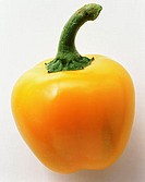 A yellow mini-pepper
