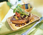 Fried tuna steaks with bean and sweetcorn salsa (2)