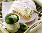 Yoghurt cheesecake with limes