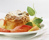 Scheiterhaufen (bread pudding) with fruit