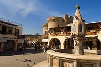 Greece, Rhodes Island, Rhodes, Hippocrates Square, Sintrivani Fountain