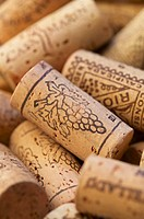 Wine corks, close-up