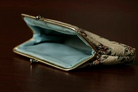 Empty purse, close-up