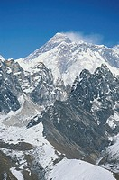 Nepal, Himalayas, view of Mt Everest from Gokyo Peak