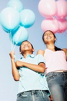 Brother and Sister with Balloons