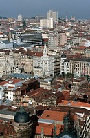 Overview on Porto. Portugal