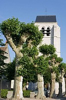 Church, Montlivault. Loir-et-Cher, France