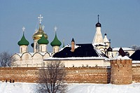 St Euthymius Monastery of Our Saviour, founded in the mid of 14thcentury. Suzdal. Golden Ring, Russia