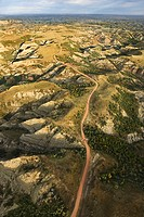 Aerial view of Badlands