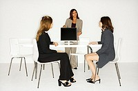 Businesswoman Teaching Coworkers