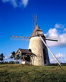 Renovated windmill. Guadeloupe, Caribbean, France