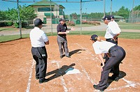 Training school for softball umpires for ASA in the US