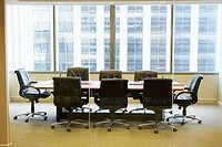 Interior of a board room