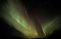 Iceland, Reykjanes, northern lights