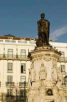 Statue of Luis de Camões on Camões Square in the Chiado District. Lisbon. Portugal