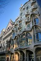Batlló House by Antoni Gaudí (1904-1906), Barcelona. Catalonia, Spain