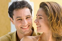 Close up of couple smiling