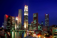 City Skyline / Financial District / Clarke Quay & Singapore River / Night View, Singapore