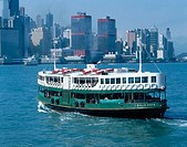 Ferry at Victoria harbour. Hong Kong. China