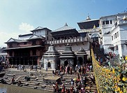 Pashupatinath Hindu Temple, Katmandu, Nepal.