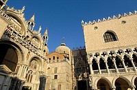 St. Mark´s basilica and Doge´s Palace, Venice. Veneto, Italy