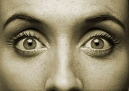 close-up of a woman´s eyes and nose (toned)